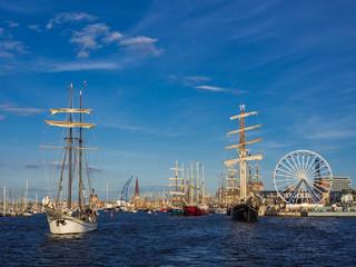 Segelschiffe auf der Hanse Sail 2012 in Rostock.