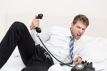 Stressiges Telefongespräch