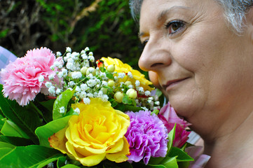 Recevoir des fleurs