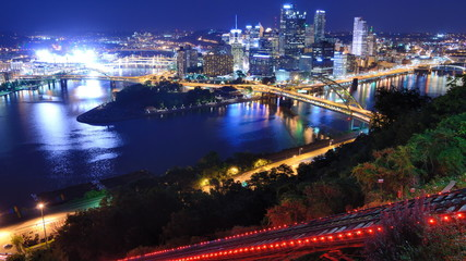 Duquesne Incline in Pittsburgh, Pennsylvania, USA