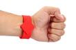 RFID  Bracelet  on his hand