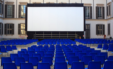 Screen, outdoor cinema