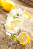 Fresh Organic Lemonade with mint leaves