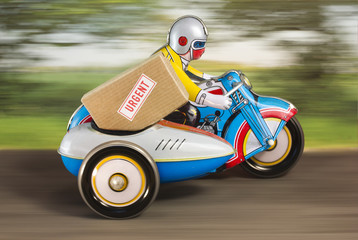 Delivery bike rural