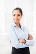 Portrait of attractive beautiful indian businesswoman successful