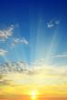 Leinwandbild Motiv beautiful sunrise