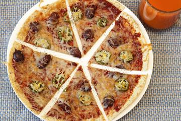 Sliced Tortilla Pizza