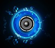 abstract Speakers blue colorful background vector