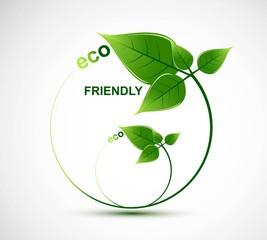 abstract natural eco green lives circle vector