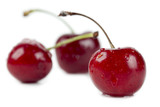 three yummy cherries