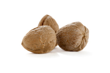 three whole walnuts