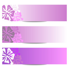 FLORAL BANNERS new purple