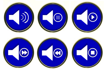 Button sound play, stop, forward, backward, pause