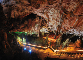 indise of Oylat cave , turkey, bursa