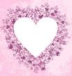 Floral hearts  frame