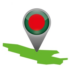 Bangladesch Markierung Flagge Icon Button