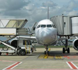 Avion avant décollage