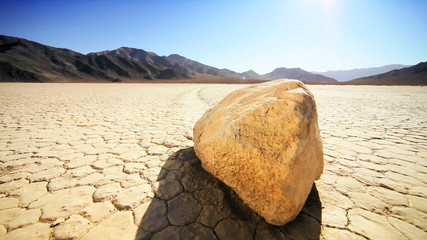 Trail From Death Valley Sailing Stones