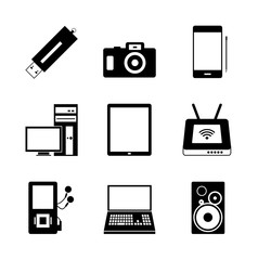 Mobile electronic icons