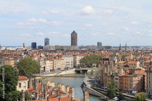 Vue sur Lyon, France