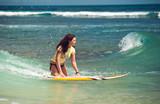 girl surfer - Fine Art prints