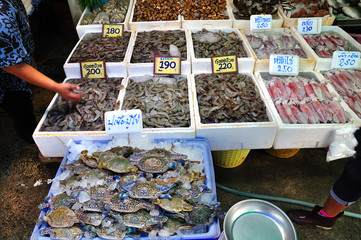 The fresh seafoods market