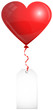 Red Heart Balloon & Label
