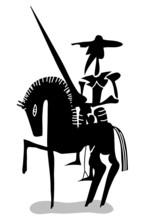 noir et blanc Don Quichotte
