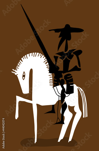 Don quixote and his horse © Complot