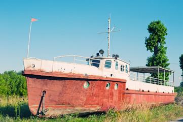 Boat on land