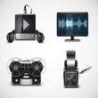 sound equipment vector icons