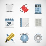 universal office vector icon set