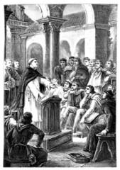 Medieval Priest : teaching Theology - 13th century