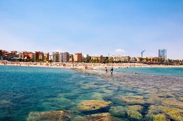 Barcelona's beach.