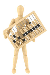 Retro abacus with wooden dummy