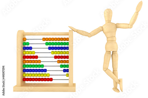 Toy abacus with wooden dummy
