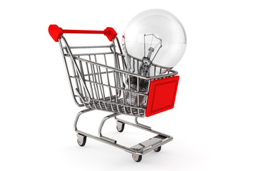 Shopping Cart with Bulb