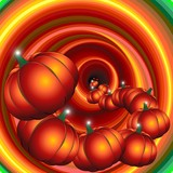 Halloween Pumpkins on Nightmare-Zucche da Incubo-Vector poster