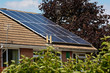 Photovoltaic Solar Panels on a Slate roof