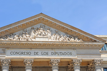 parliament or congreso de los diputados in Madrid