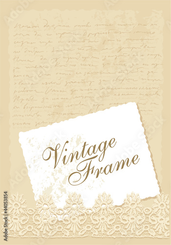 vintage vector background with photo frame