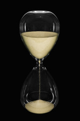Hour Glass on black