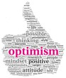 Optimism concept in tag cloud