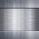 Brushed aluminum metal plate