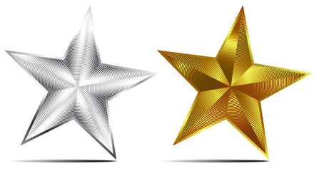 Silver and Gold Star
