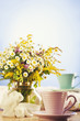 Tea for two and summer flowers