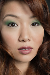 Close-up portrait of beautiful Chinese woman