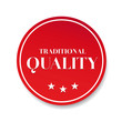 Traditional quality button