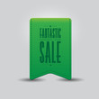 Sale offer old retro ribbon green
