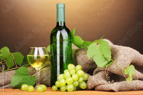 Bottle of great wine with glass